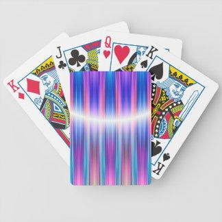 Lila Streifenmuster Pokerkarten