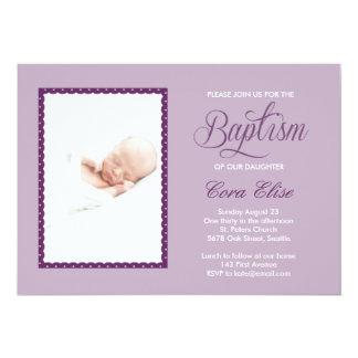 Lila Taufe-Einladung 12,7 X 17,8 Cm Einladungskarte