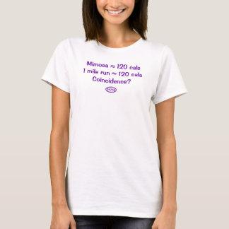 Lila Text: Mimose = 120 Kalorien = 1-Meilen-Lauf T-Shirt