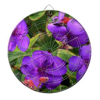 Lila Tibouchina Blumen Dart-scheibe