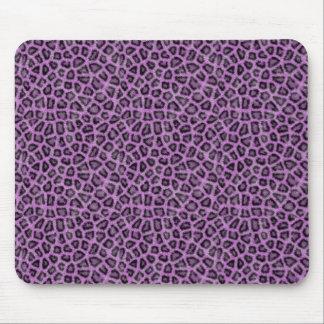 Lila Tierdruck Mousepad