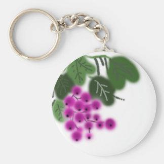 lila Trauben und Grün-Blätter Schlüsselanhänger