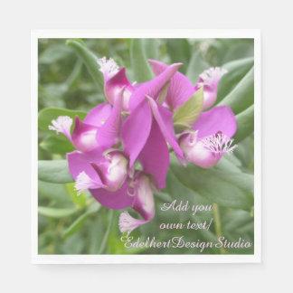 Lila tropische Blumen-Papierservietten Papierserviette