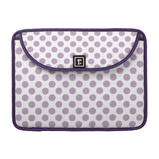Lila Tupfen MacBook Pro Sleeve