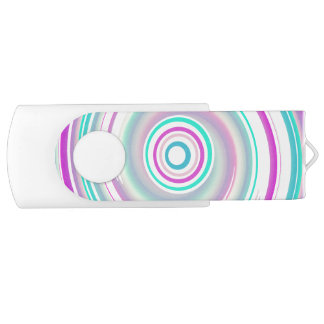 Lila u. aquamariner Strudel - Weiß 16 GBs Swivel USB Stick 3.0