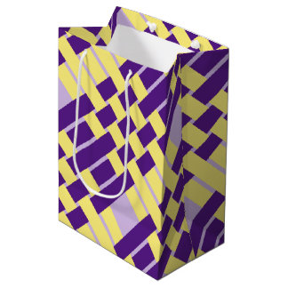 Lila u. gelbe Webart-Geschenk-Tasche Mittlere Geschenktüte