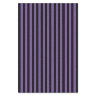 Lila u. schwarze gestreifte Seidenpapiere Seidenpapier