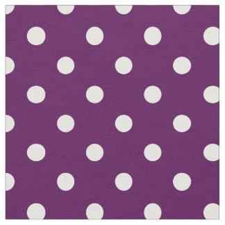 Lila u. Weiß punktiert | Gewebe Stoff