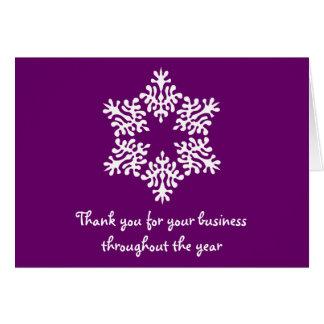 Lila u. weißes Geschäft danken Ihnen Karte