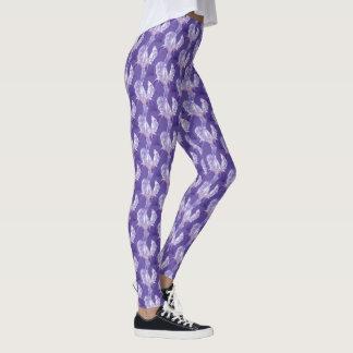 Lila ultraviolette Iriskunst-Mustergamaschen Leggings