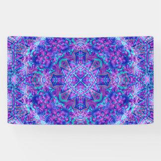 Lila und blaue Muster-    Fahnen, 4 Größen Banner