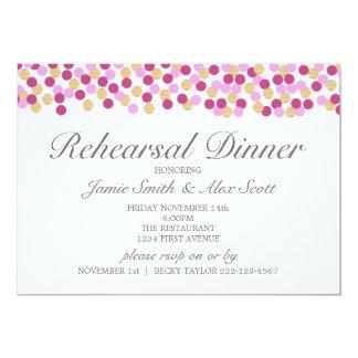 Lila und Goldpolka-Punkt-Proben-Abendessen laden 12,7 X 17,8 Cm Einladungskarte