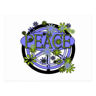 Lila und Limoner Frieden Postkarte