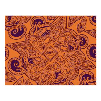Lila und orange persische postkarte