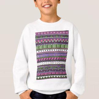 Lila und rosa Stammes- Muster Sweatshirt