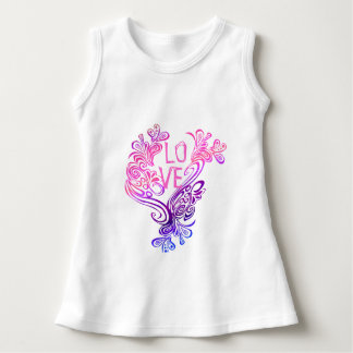 Lila und rosa Wellen der Liebe Kleid