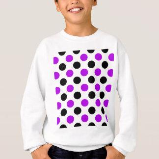 Lila und schwarze Polka-Punkte Sweatshirt