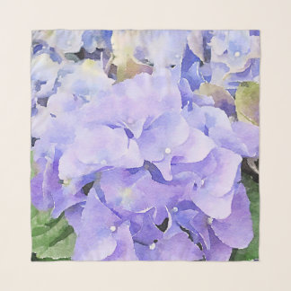 Lila und violetter WatercolorHydrangea Schal