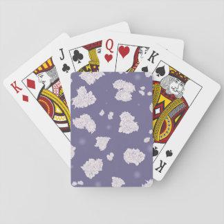 Lila und weiße Rosen Spielkarten
