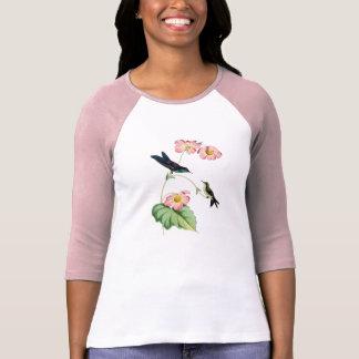 Lila unterstützter Thornbill Kolibri-Damen-T - T-Shirt