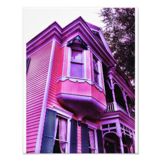 Lila viktorianisches Haus Photographien
