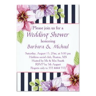 Lila violetter Polterabend Blumen des Watercolor 11,4 X 15,9 Cm Einladungskarte