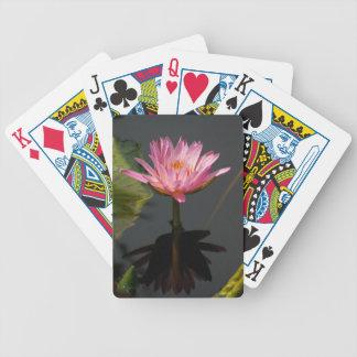 Lila Wasserlilie-Lotos-Spielkarten Pokerkarten