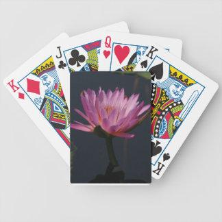 Lila Wasserlilie-Lotos-Spielkarten Spielkarten