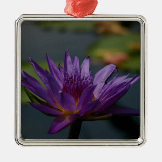 Lila Wasserlilie Silbernes Ornament