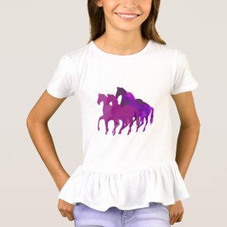 Lila Watercolor-Fantasie-Pferdereiten modern T-Shirt
