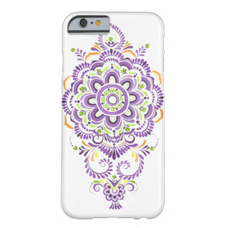 lila Watercolor Mandala-Blumen-Telefonkasten Barely There iPhone 6 Hülle