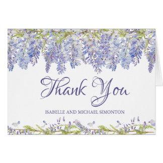 Lila Watercolor-mit Blumenpersonalisiertes danken Karte