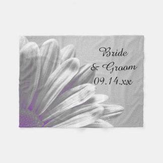 Lila Wedding Blumenhöhepunkte Fleecedecke