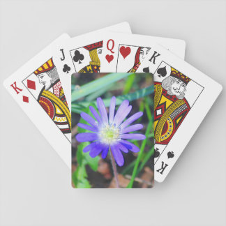 Lila Wildblume-klassische Spielkarten