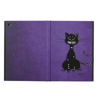 Lila zackige schlechte schwarze Katze