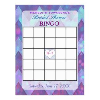 Lila Zickzack der Bingo-Karten-  Postkarten