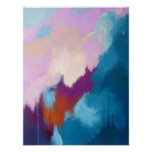 Lilas avec la peinture abstraite moderne d'Aqua -  Affiches