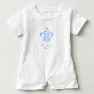 Lilie bébé™ Baby-Bodysuit-Spielanzug-Weiß/Blau Baby Strampler