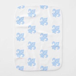Lilie bébé™ Burp-Stoff-Weiß/Blau Spucktuch