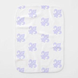 Lilie bébé™ Burp-Stoff-Weiß/Lavendel Spucktuch