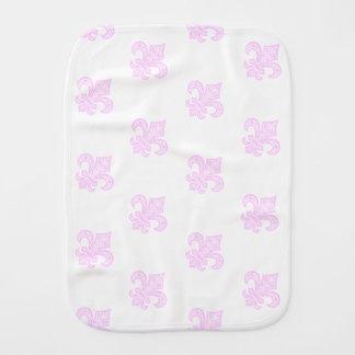 Lilie bébé™ Burp-Stoff weiß/Rosa Baby Spucktuch