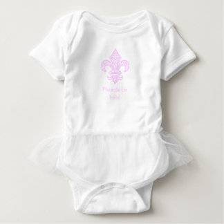 Lilie bébé™ Tutu-Bodysuit, Weiß/Rosa Baby Strampler