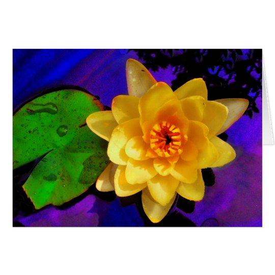 Lilie des gelben Wassers Grußkarte