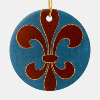 Lilie Rundes Keramik Ornament