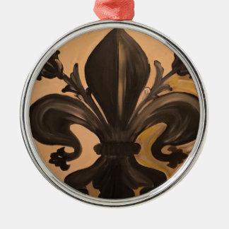 Lilie Rundes Silberfarbenes Ornament