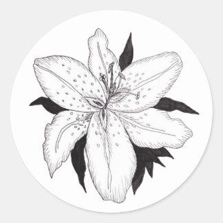 Lilien-Aufkleber Runder Aufkleber