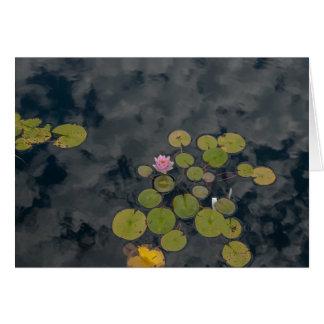 Lilien-Auflagen Grußkarte