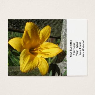 Lilien-Gelb verwitterter Zaun Visitenkarte