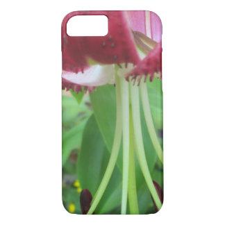 Lilien-grüne kastanienbraune Garten-Pflanze iPhone 8/7 Hülle