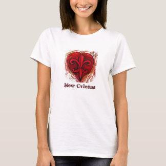Lilien-Herz T-Shirt